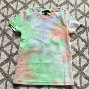 BNWOT - Forever21 21 ribbed tie dye tee size small